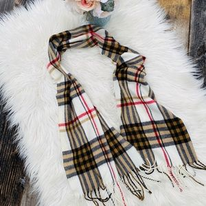 Made in Italy Plaid Tassel Scarf
